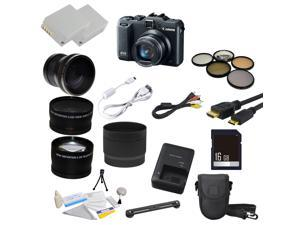 Canon PowerShot G15 12MP Digital Camera with 23 Piece Ultimate Lens Bundle