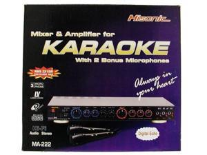 Hisonic MA222 60 Watts Karaoke Mixer Mixing Amplifier