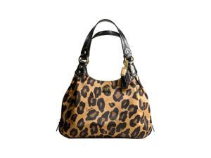 Coach Madison Ocelot Leopard Animal Print Maggie Bag Purse Brown
