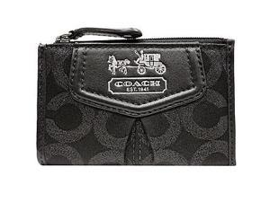 Coach Madison Lurex Mini Skinny Coin Case Wallet Bag 44618 Black