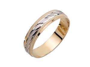 Infinty Links Fancy Women's 5 mm 14K Two Tone Gold Wedding Band