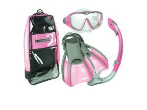 US Divers Diva LX Mask Fin Snorkel Set, Pink, Small | 5-8