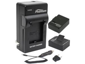Phantom GoPro Battery Kit with Wall & Car Charger for Gopro HERO3+ and HERO3 Cameras