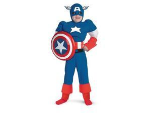 Boys Captain America Muscle Chest Costume