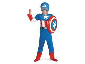 Toddler Muscle Captain America Costume