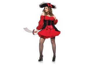 Womens Plus Size Vixen Pirate Costume