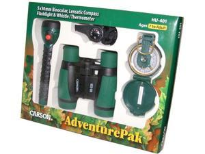 Carson AdventurePak HU-401 Binocular, Compass, Flashlight, Whistle, Thermometer