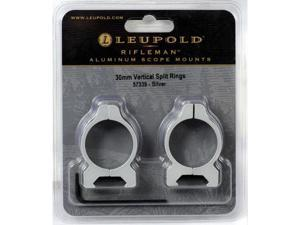 Leupold Rifleman 30mm Vertical Split Rings Silver
