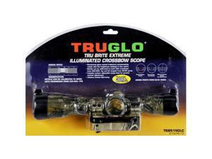 TruGlo Tru Brite 1.5-5x32mm Crossbow Scope, Illuminated 2 Color Reticle, Camo TG