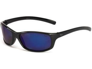 Coleman Tuna Sunglasses - Black Frame and Blue Mirrored Lens 842749031149