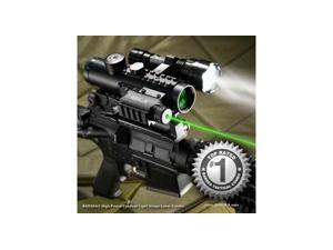 Barska 4x30 IR Electro Sight w/ LED Flashlight Combo Pack, GLX Green Laser, 210