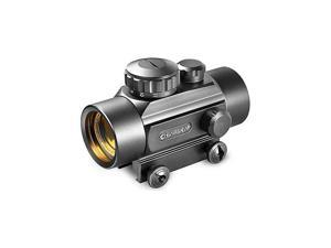 Barska 1x50mm 5 MOA Illuminated Reticle Red Dot Scope, Black, Weaver Base - AC10