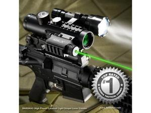 Barska 4x30 IR Electro Sight w/ LED Flashlight Combo Pack, GLX Green Laser, 210