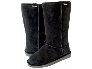 Bearpaw 'Emma Tall' 12-Inch Suede Sheepskin Boot