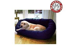 "Majestic Pet Small 24"" Bagel Dog Bed (24""x22""x9"") BLUE - OEM"