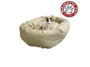 "Majestic Pet Large 40"" Bagel Dog Bed (40""x31""x12"")  KHAKI - OEM"