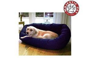 "Majestic Pet Medium 32"" Bagel Dog Bed (32""x28""x10""), Blue - OEM"