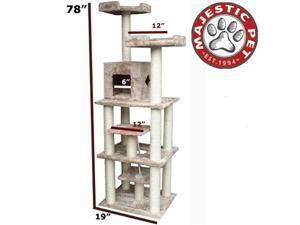 "Majestic Pet 78"" CASITA Cat Tree - Honey Brown FUR - OEM"