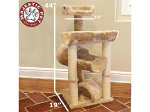 "Majestic Pet 44"" CASITA Cat Tree - Honey Brown FUR - OEM"