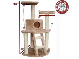 "Majestic Pet 48"" CASITA Cat Tree - Honey Brown FUR - OEM"