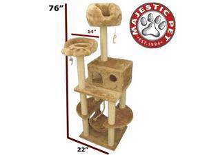 "Majestic Pet 76"" CASITA Cat Tree - Honey Brown FUR - OEM"
