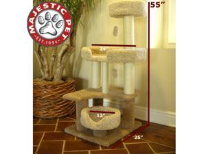 "Majestic Pet 55"" Kitty Cat Jungle Gym (carpeted earth tones) - OEM"