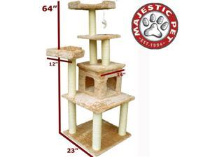 "Majestic Pet 64"" CASITA Cat Tree - Honey Brown FUR - OEM"