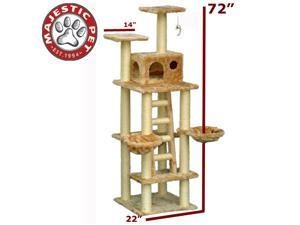 "Majestic Pet 72"" CASITA Cat Tree - Honey Brown FUR - OEM"