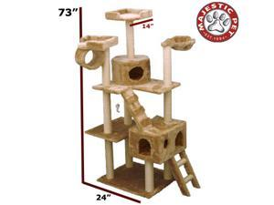 "Majestic Pet 73"" CASITA Cat Tree - Honey Brown FUR - OEM"