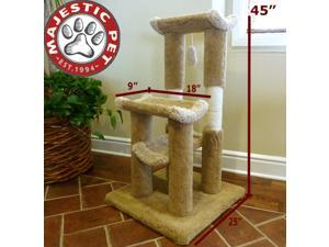 "Majestic Pet 45"" Kitty Cat Jungle Gym (carpeted earth tones) - OEM"