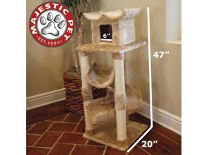 "Majestic Pet 47"" CASITA Cat Tree - Honey Brown FUR - OEM"