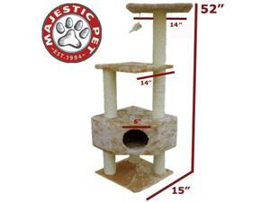 "Majestic Pet 52"" CASITA Cat Tree - Honey Brown Fur - OEM"