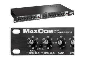 BBE MAX COM Dual Channel Compressor Limiter Gate MAXCOM NEW