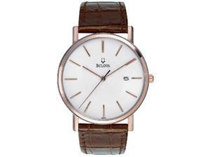 Bulova Strap Series White Dial Mens Watch 98H51