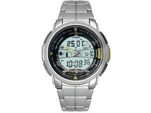 Casio AQF-100WD-9B Mens Forester Digital Thermometer Stainless Steel Sport Watch
