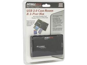 Mobile Edge USB 2.0 3-Port Hub & Card Reader/Writer