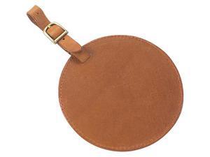Clava Tuscan Leather Circle Luggage Tag