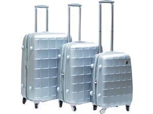 CalPak Napoleon 3 Piece Hardside Spinner Set - Gray
