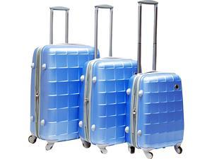 CalPak Napoleon 3 Piece Hardside Spinner Set - Sky Blue