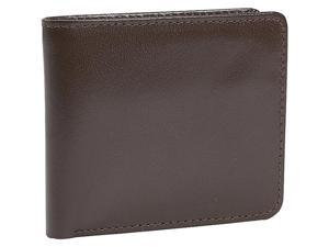 Leatherbay Double Fold Leather Wallet w/Pocket