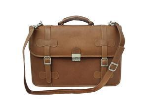 Piel XXL Leather Flap-Over Portfolio