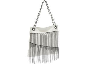 Ashley M Faux Leather Chain Fringe Bag