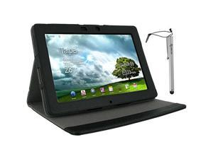 rooCASE Multi-Angle Vegan Leather Case w/ Stylus for Asus Transformer Pad Infinity TF700T