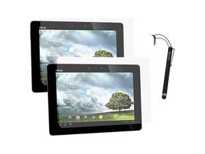 rooCASE 4-Pack 2x Anti-Glare & 2x HD Screen Protectors with Stylus for Asus Transformer Pad Infinity TF700T