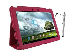 rooCASE Ultra-Slim Vegan Leather Case w/ Stylus for Asus Transformer Pad Infinity TF700T