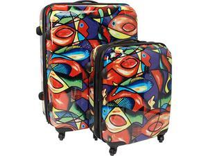 IT Luggage Painted Fish 2 Piece Hardside Spinner Set