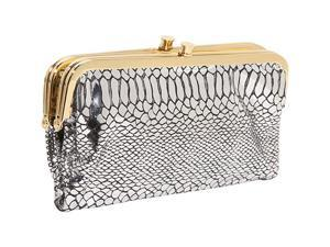 AmeriLeather Python Gloria Clutch w/ Vanity Mirror