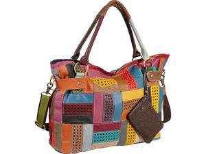AmeriLeather Rainbow Mazy Tote