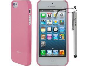 rooCASE Ultra Slim Gloss Shell Case w/ Stylus for iPhone 5/5s