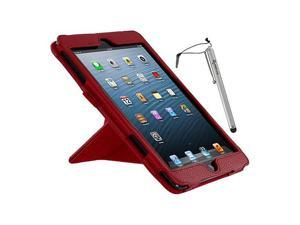 rooCASE Origami Dual-View Vegan Leather Case w/ Stylus for iPad Mini